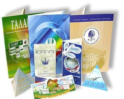 Дизайнерские бумаги в рекламной полиграфии